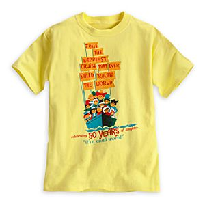 its a small world Attraction Poster Tee for Kids - 50th Anniversary - Limited Availability