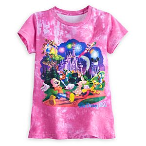 Mickey Mouse and Friends Storybook Tie Dye Tee for Girls - Walt Disney World