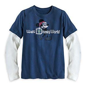 Santa Mickey Mouse Double-Up Long Sleeve Tee for Boys - Walt Disney World