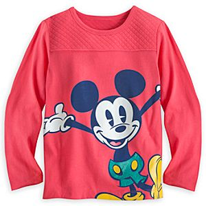 Mickey Mouse Long Sleeve Knit Top for Girls - Walt Disney World