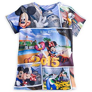 Minnie Mouse and Friends Sublimated Art Tee for Girls - Walt Disney World 2015