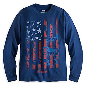 Mickey Mouse Flag Long Sleeve Tee for Adults - Disneyland