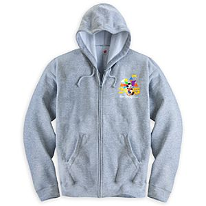 Mickey Mouse and Friends Zip Hoodie for Adults - Walt Disney World 2015