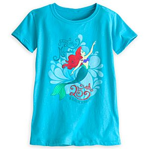 The Little Mermaid Tee for Girls - 25th Anniversary - Limited Availability