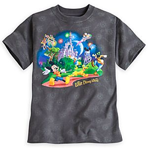 Mickey Mouse and Friends Storybook Fireworks Tee for Boys - Walt Disney World