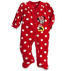 Minnie Mouse Fleece Romper for Baby