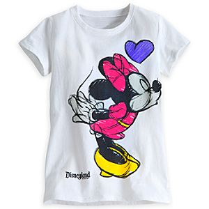 Minnie and Mickey Mouse Tee for Girls – Disneyland