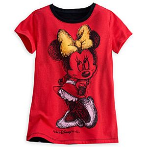 Minnie Mouse Gold Bow Tee for Girls - Walt Disney World
