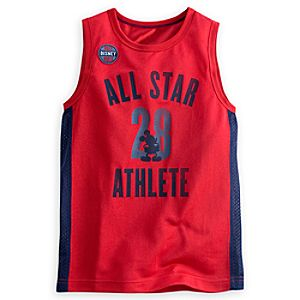 Mickey Mouse Athletic Tank Top for Boys - Walt Disney World - Red