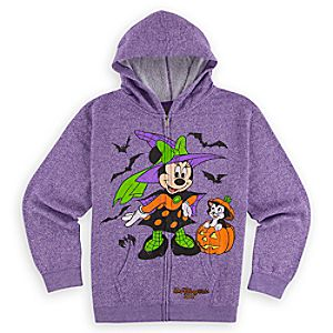 Minnie Mouse and Figaro Halloween Hoodie for Girls - Walt Disney World