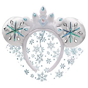 Elsa Ear Headband with Veil