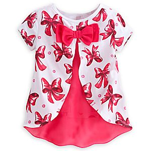 Minnie Mouse Bow Top for Girls