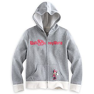 Minnie Mouse Silver Hoodie for Girls - Walt Disney World