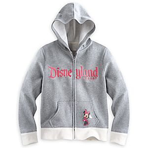 Minnie Mouse Silver Hoodie for Girls - Disneyland