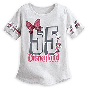Minnie Mouse Sequin Tee for Girls - Disneyland