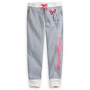 Minnie Mouse Silver Sweatpants for Girls - Walt Disney World
