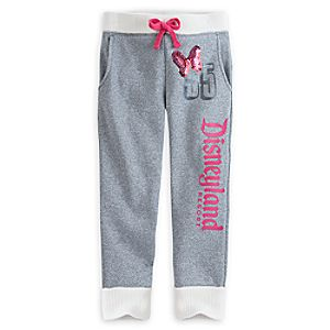 Minnie Mouse Silver Sweatpants for Girls - Disneyland