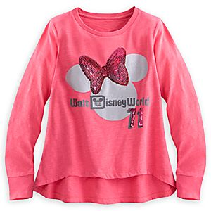 Minnie Mouse Sequin Long Sleeve Top for Girls - Walt Disney World