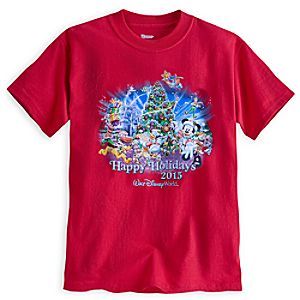 Santa Mickey Mouse and Friends Holiday 2015 Tee for Boys - Walt Disney World