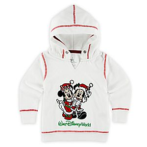Mickey and Minnie Mouse Holiday Hoodie for Girls - Walt Disney World