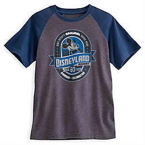 Mickey Mouse Raglan Tee for Kids - Disneyland Diamond Celebration