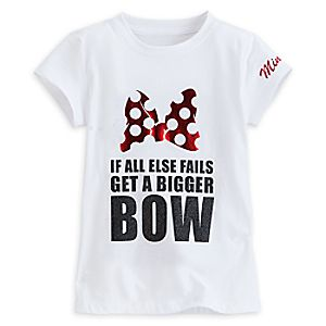 Minnie Mouse Tee for Girls by Tutu Couture