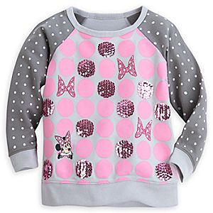 Minnie Mouse Sequined Sweatshirt for Girls