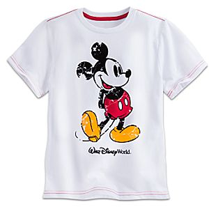 Mickey Mouse Flocked Tee for Boys - Walt Disney World
