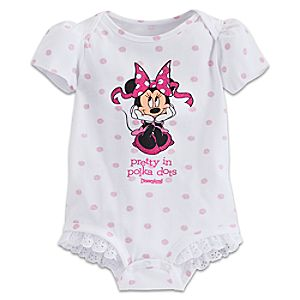 Minnie Mouse Pretty Polka Bodysuit for Baby - Disneyland