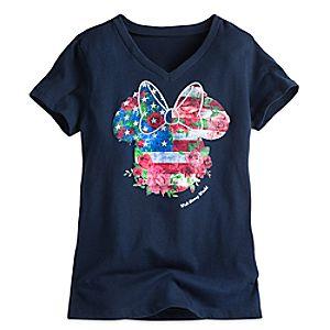 Minnie Mouse Flag Tee for Girls - Walt Disney World