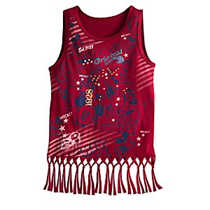 Mickey Mouse Stars and Stripes Tank for Girls