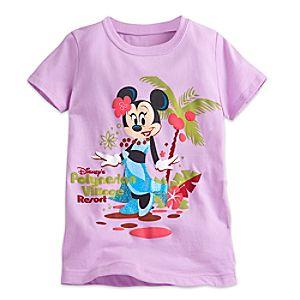 Minnie Mouse Tee for Girls - Disneys Polynesian Village Resort - Walt Disney World