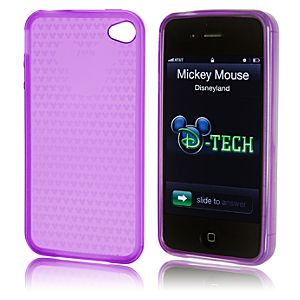 Vinyl Mickey Mouse iPhone 4 Case -- Purple