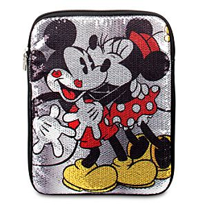 Sequined Minnie Mouse and Mickey Mouse Tablet Case