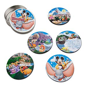 Disney Storybook Attractions Disneyland Coaster Set -- 5-pc.