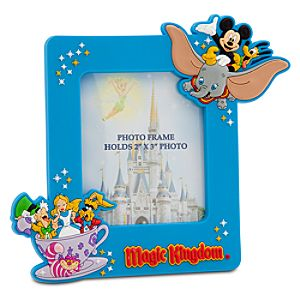 Disney Storybook Attractions Magic Kingdom Magnet Photo Frame -- 2 x 3