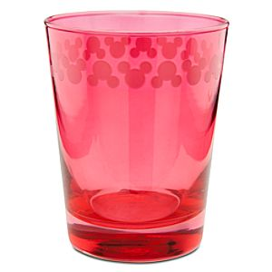 Color Fusion Mickey Mouse Glass -- Red