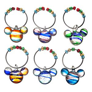 Color Fusion Mickey Mouse Beverage Glass Charm Set -- 6-Pc.