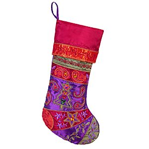 Bohemian Holiday Mickey Mouse Stocking