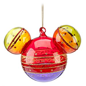 Bohemian Rainbow Mickey Mouse Ornament