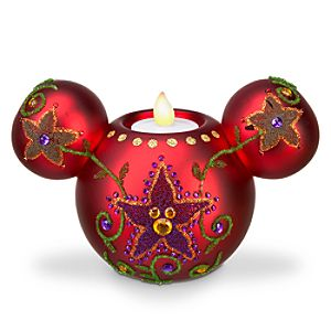 Bohemian Holiday Mickey Mouse Candle Holder