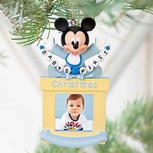 Baby Mickey Mouse Photo Frame Ornament -- 1 1/2 x 1 1/2