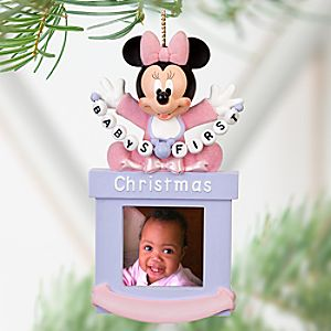 Baby Minnie Mouse Photo Frame Ornament -- 1 1/2 x 1 1/2