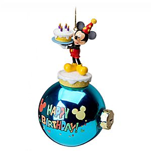 Celebration Happy Birthday Mickey Mouse Ornament