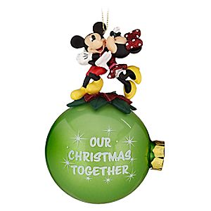 Minnie and Mickey Mouse Our Christmas Together Ornament