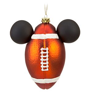 Football Icon Mickey Mouse Ornament