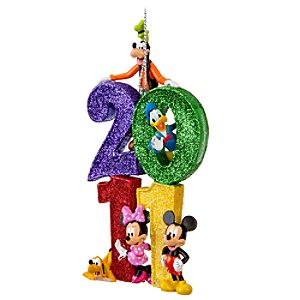 Walt Disney World 2011 Logo Mickey Mouse and Friends Ornament