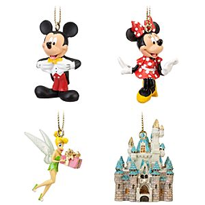 Walt Disney World Miniature Ornament Set -- 4-Pc.