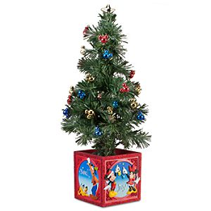 Light-Up Tabletop Mickey Mouse Holiday Tree