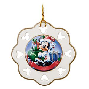 Snowflake Santa Mickey Mouse Ornament